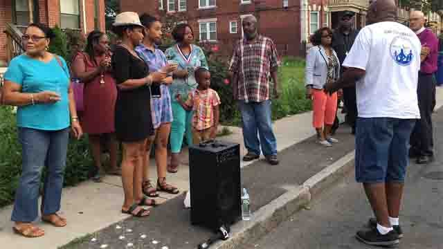 A vigil was held following a man's death over the weekend (WFSB)