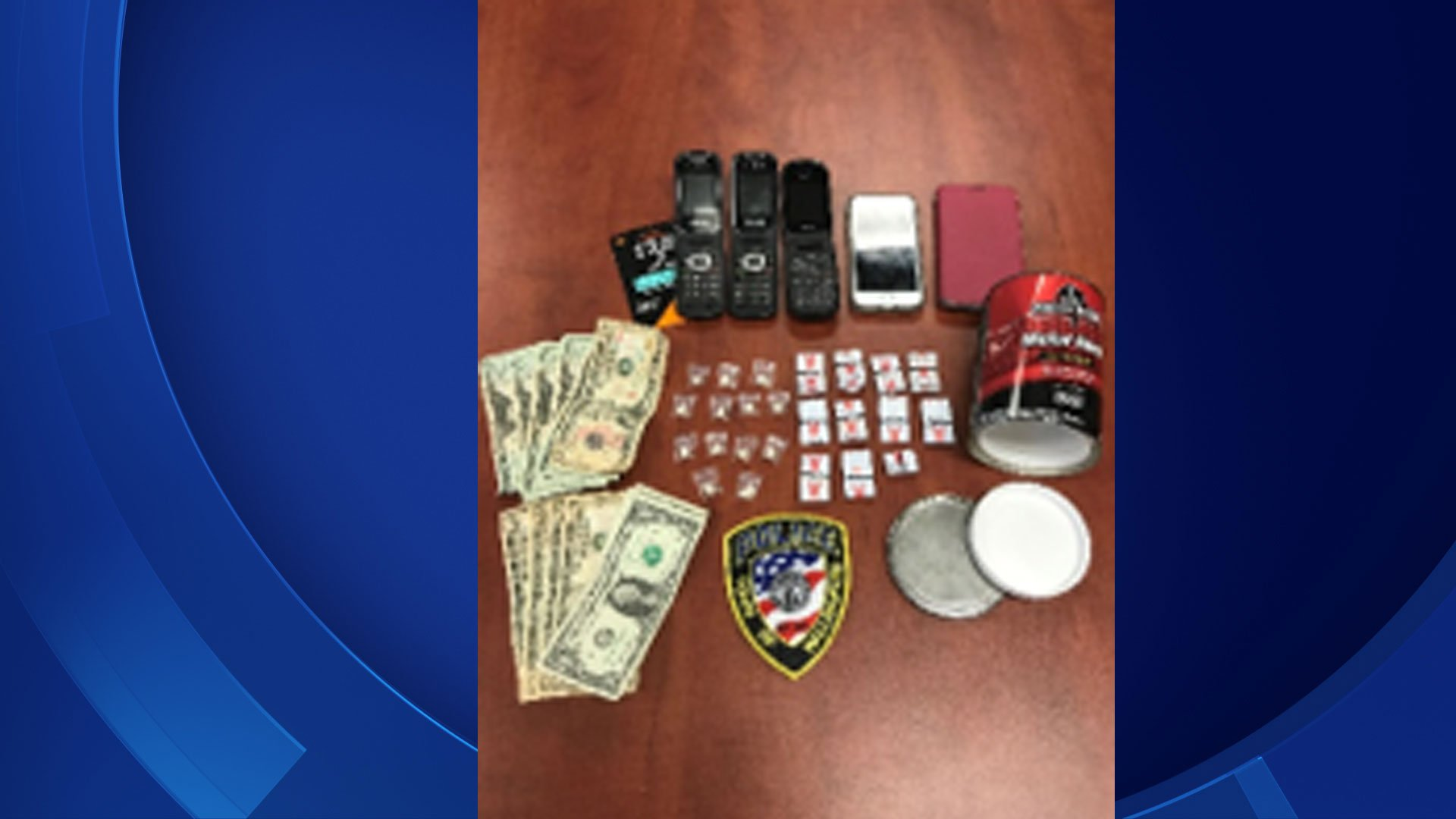 The following items were seized during an arrest on Thursday. (Wallingford Police Department)