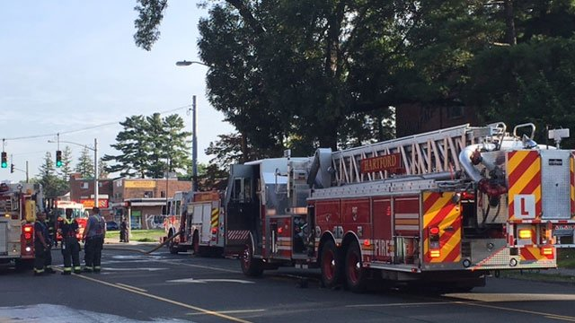 Firefighters quickly knocked down a kitchen fire in Hartford on Friday. (WFSB)