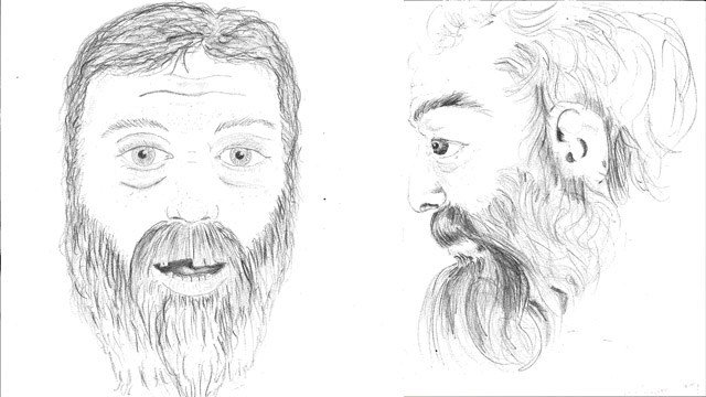 Norwich police released these sketches of a man whose body was found in the Shetucket River last month. (Norwich police)