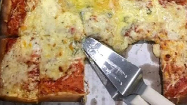 Crown Pizza in Waterford hopes to break a cheese topping world record with this pizza. (Crown Pizza)