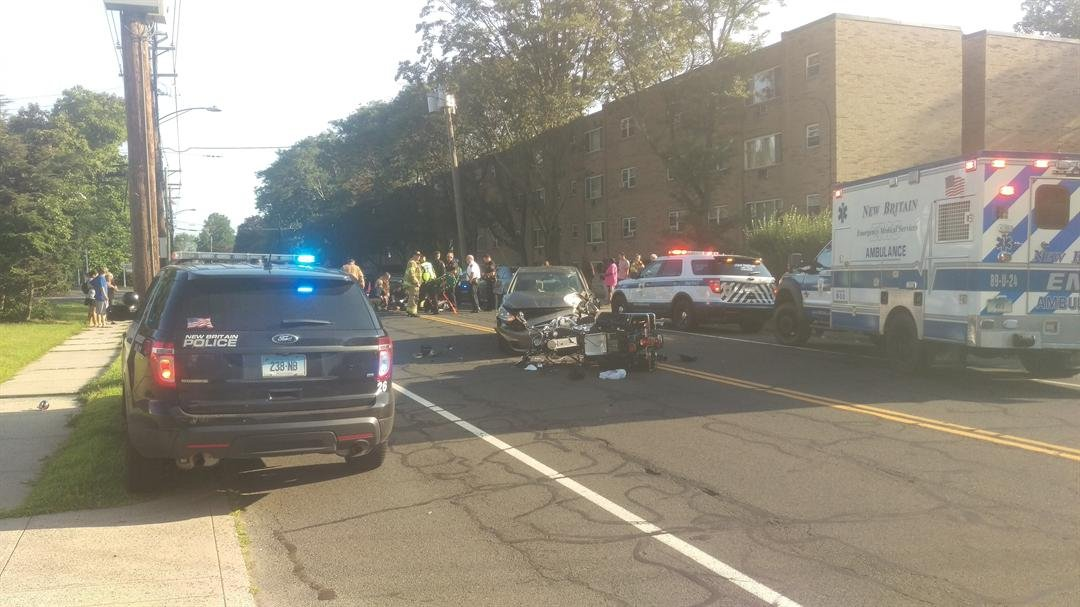 A state trooper has been injured in a motorcycle crash. (Viewer photo)