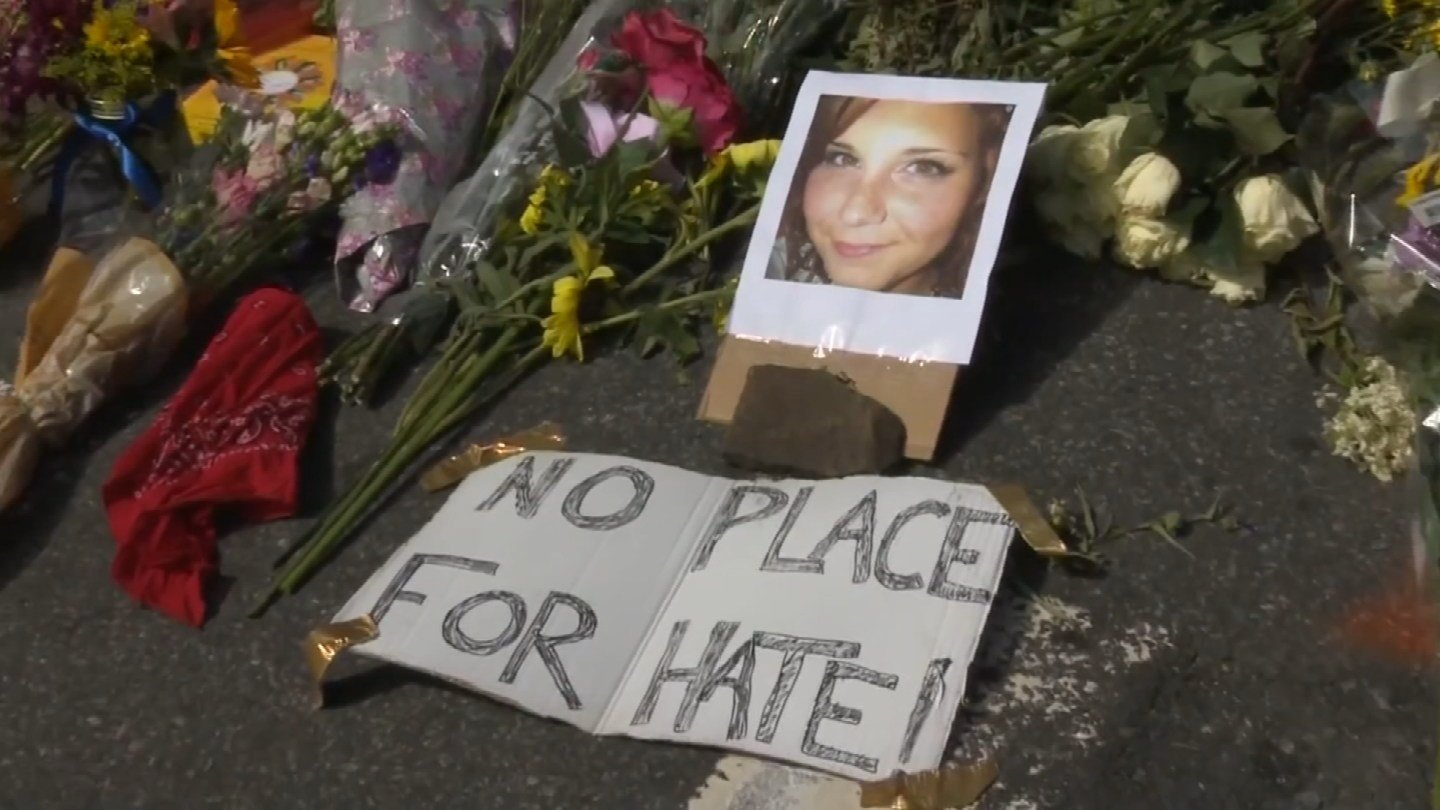 Heather Heyer died when a man drove his car into a crowd of protesters over the weekend. (CBS photo)