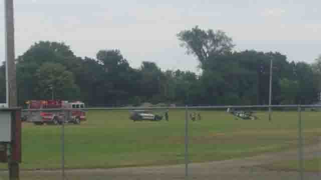 A plane crashed on the Guilford Fair Grounds on Monday afternoon (Mathew Lombard)