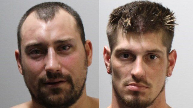 Justin Burke and Anson Moody were arrested following a fight in Ledyard, police said. (Ledyard police)