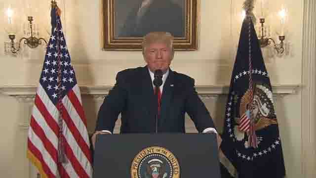 President Trump commented on the violence in Charlottesville on Tuesday (WFSB)