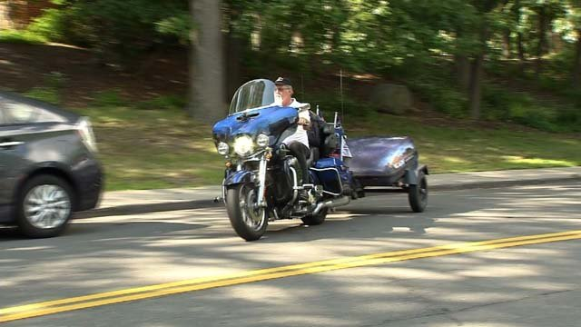 David Cowan is on a 14,000-mile journey that brought him to Connecticut. (WFSB)
