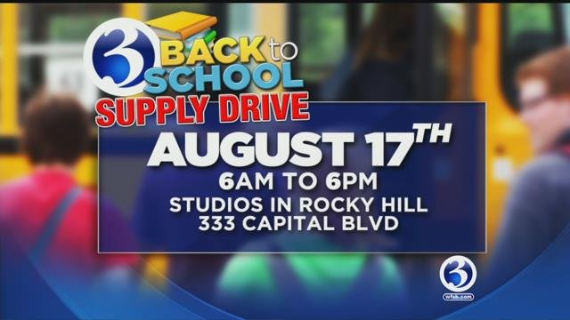 Channel 3's drive on Capital Boulevard in Rocky Hill runs from 6 a.m. to 6 p.m. (WFSB)
