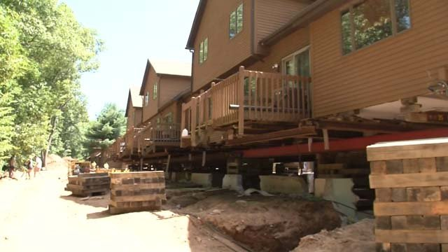 Condos in Vernon are being lifted so they can have new foundations (WFSB)