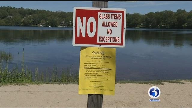 Residents in Marlborough said they weren't warned about chemicals being put in the lake (WFSB)