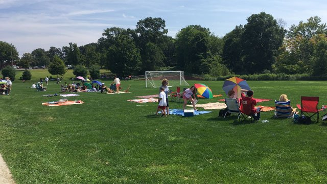 People are getting ready at the Glastonbury-East Hartford Magnet School. (WFSB)