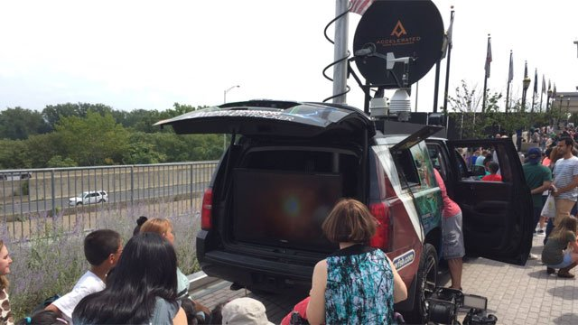 People can view the Eclipse 2017 from CT Science Center from the back of our WFSB Weather Tracker! (WFSB)