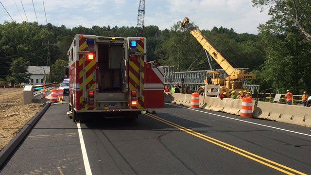 A worker was injured during a construction accident in Willington. (WFSB)