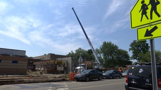 Construction continues at a Milford school as the academic year approaches (WFSB)