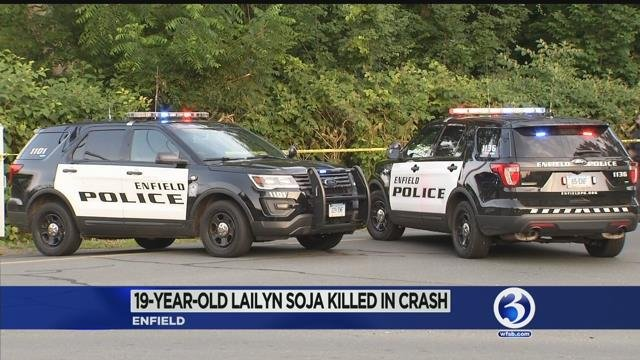 Teen killed in Enfield crash, two others injured