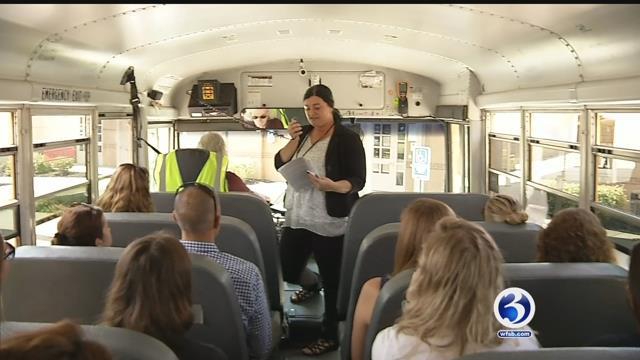 Norwich teachers got a tour before the beginning of school (WFSB)