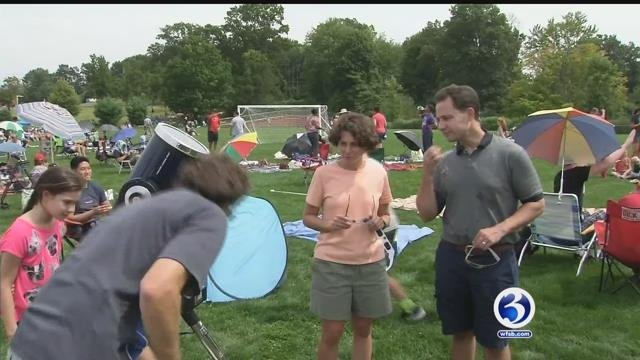 Towns host viewing parties for solar eclipse