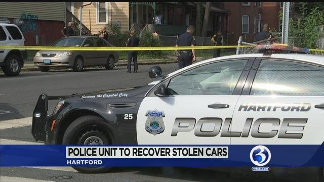 Hartford police work to recover stolen cars