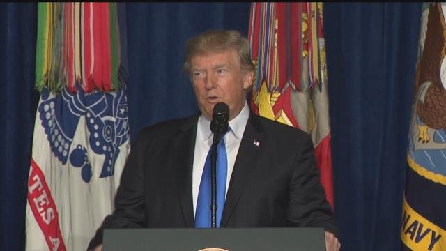 President Trump discusses plan for Afghanistan