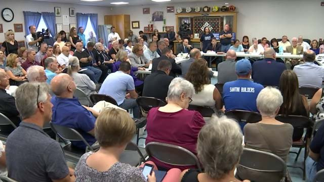 Dozens of people showed up for a meeting regarding crumbling foundations on Wednesday (WFSB)