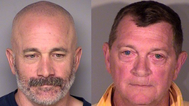 Michael Richard and Michael McMahon were arrested after a shot was fired from the stern of the Cross Sound Ferry in New London. (New London police)