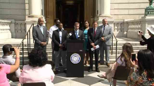 Leaders spoke about the funding that is being pulled from Hartford's teen pregnancy prevention program (WFSB)
