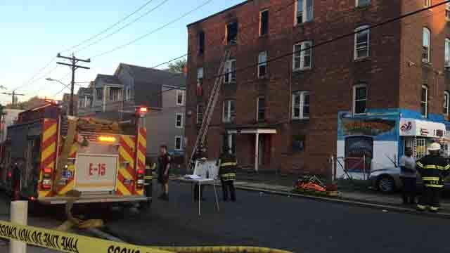 A fire displaced seven families on Thursday evening (WFSB)