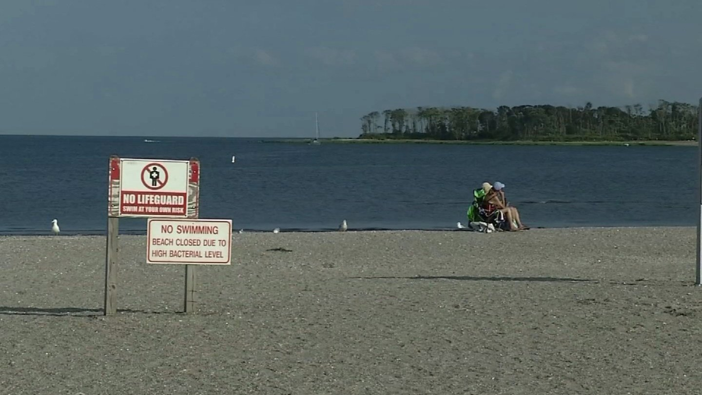 Silver Sands State Park is among those with an off limits swimming area, according to DEEP. (WFSB)