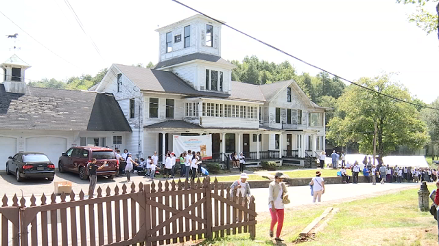 """Church organizers welcomed the neighborhood to their newly purchased land and property in East Haddam on Saturday for an """"Open House."""" (WFSB)"""