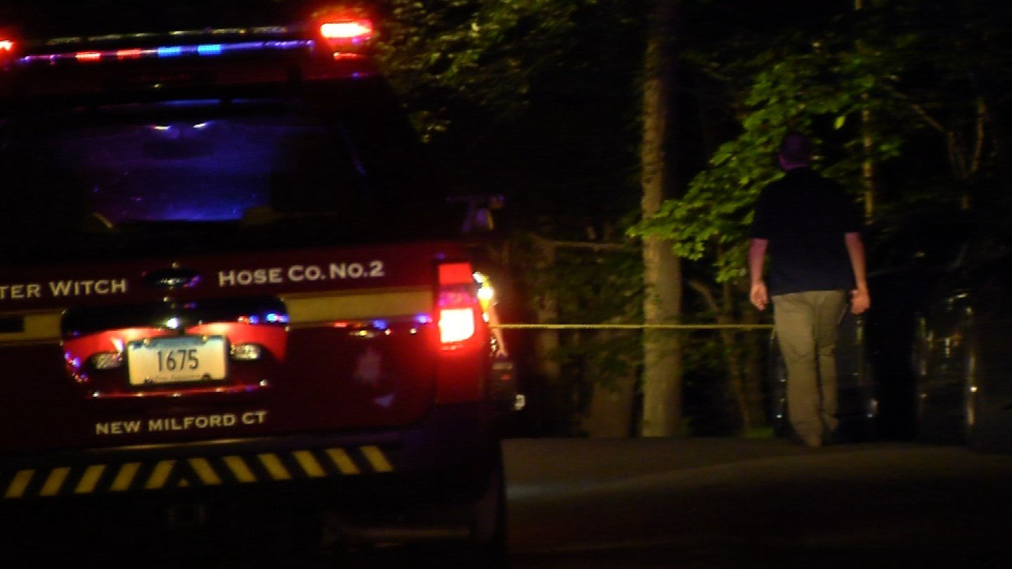 New Milford police said they were forced to shoot and kill an armed man on Outlook Road in New Milford on Monday night. (WFSB)