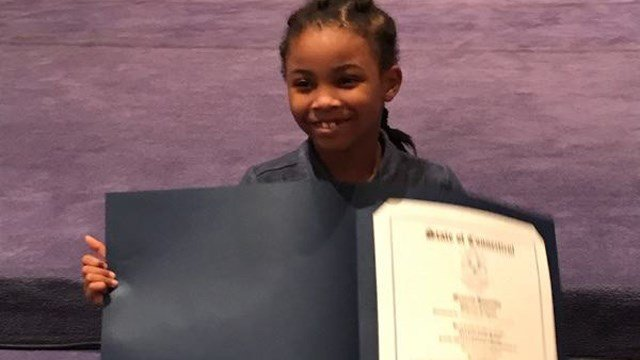 Rosalyn Baldwin received a Connecticut declaration over the weekend. (Facebook)