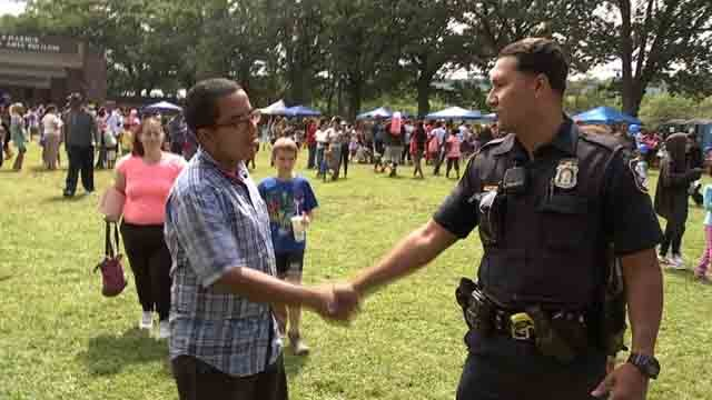 Officer Andres Rivera is ready for the beginning of school (WFSB)