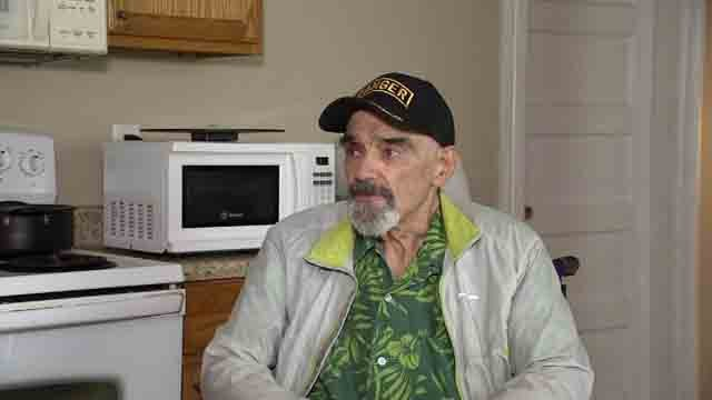 Howard Beveridge, 77, is settling into his apartment on East Center Street in Torrington. (WFSB)