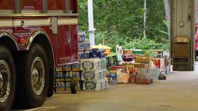 Firefighters in Beacon Falls are loading up supplies to bring to Texas (WFSB)