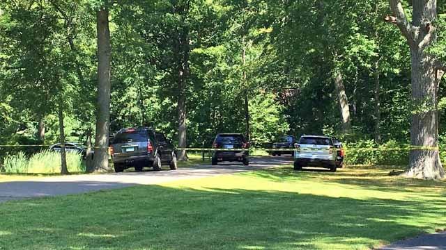 A homicide investigation is underway in Keney Park in Hartford. (WFSB)