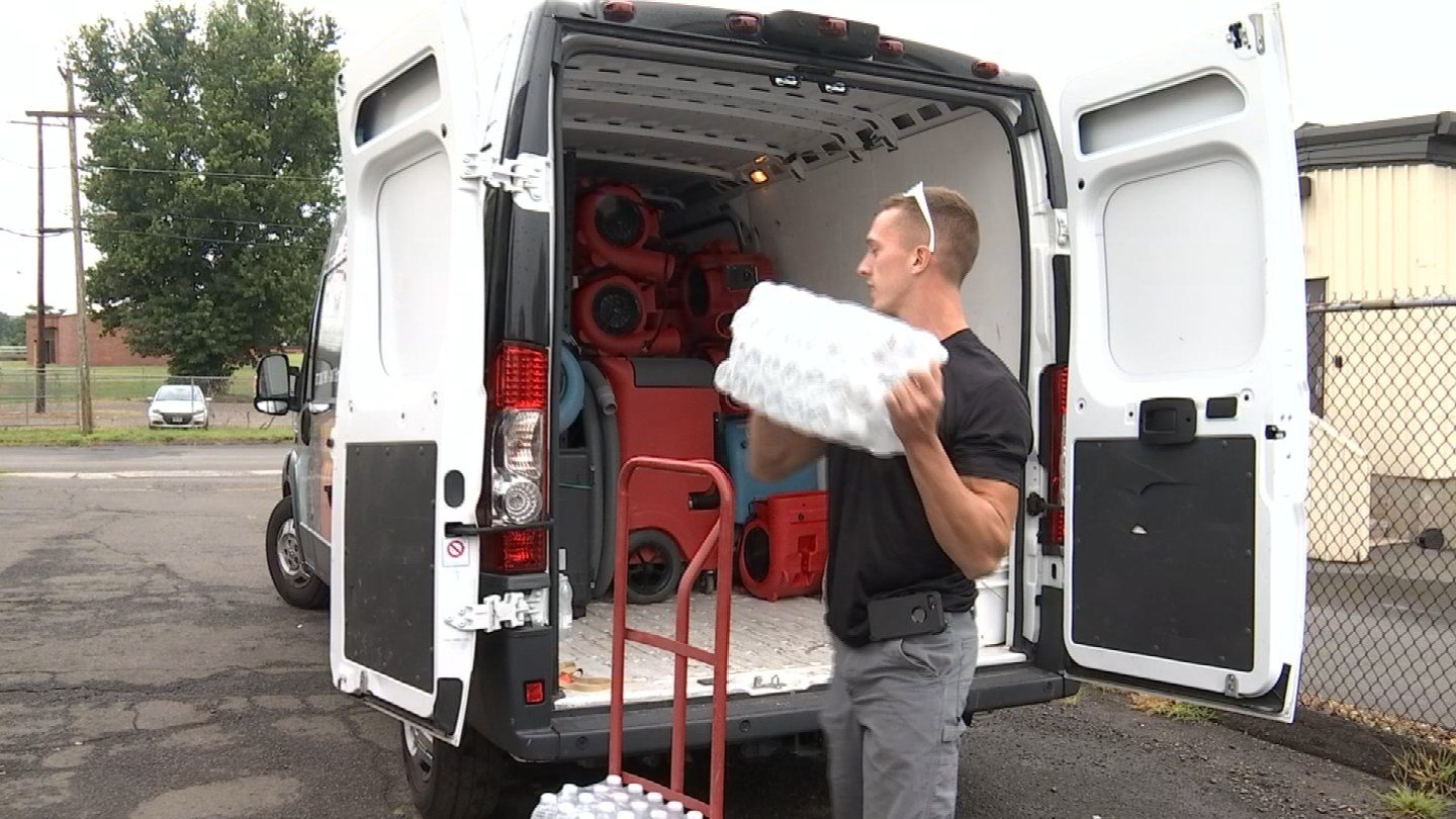 Fred Tharin of Disaster Response Services prepares to head to Texas to help with Harvey recovery efforts. (WFSB)
