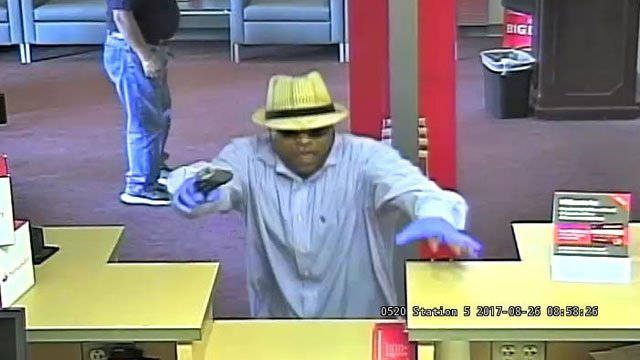 Police are searching for this man and another are accused of a bank robbery in West Hartford on Wednesday morning. (West Hartford Police Department)