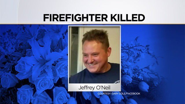 jeffrey O'Neil, who was a New Haven firefighter, died in a crash in New Britain in February. (WFSB)