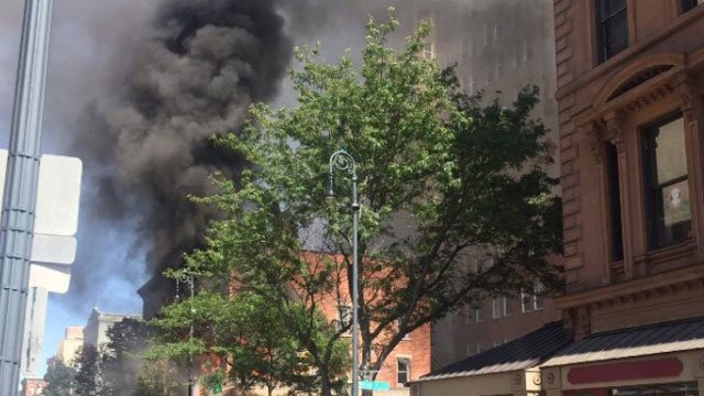 There were reports of people trapped in a building in New Haven after a fire on Friday. (New Haven Fire Department)