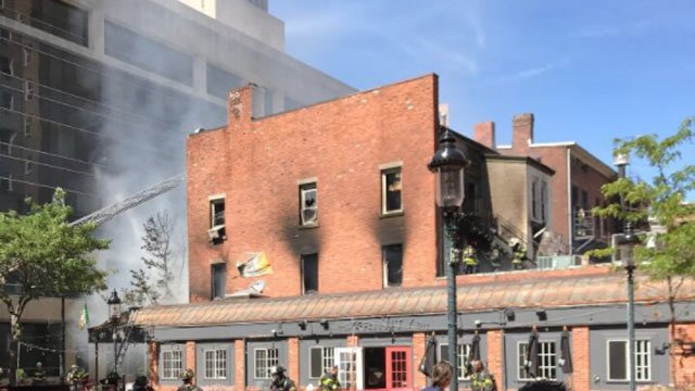 Firefighters were called to a working fire at 157 Orange St. around 2 p.m. (New Haven Fire Department)