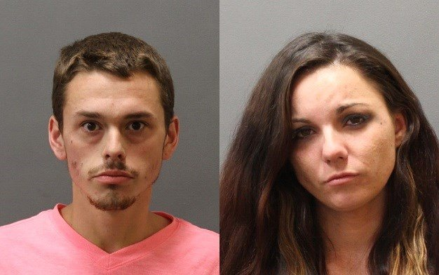 James Drane & Amanda Bendixen who were arrested for possession of heroin.  (Plainfield Police Dept.)