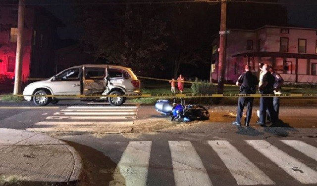 Police are investigating after a car and a motorcycle were involved in a crash on Saturday evening. (WFSB)