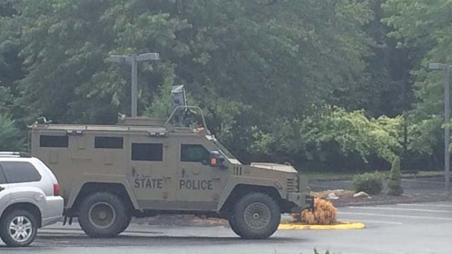 Police were called to a hotel in Southbury where a man barricaded himself (CT State Police)