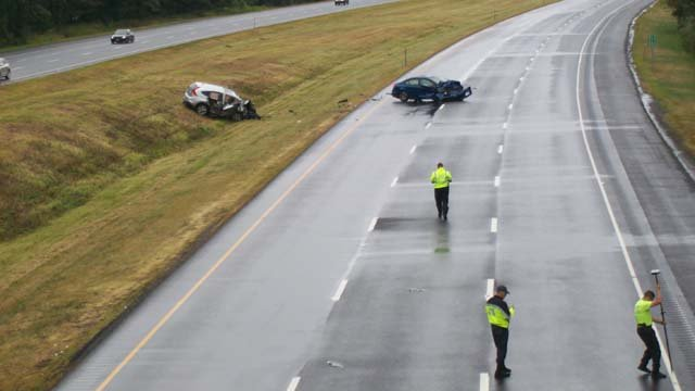 A serious crash was caused by a wrong way driver on Sunday on I-91 south (Donna Fritz)