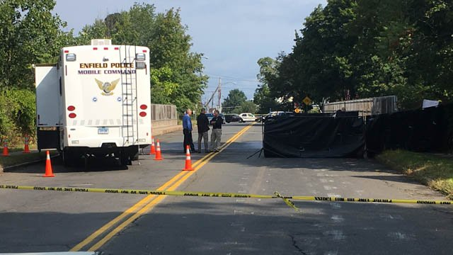 A body was found in Pearl Street in Enfield, according to police. (WFSB)