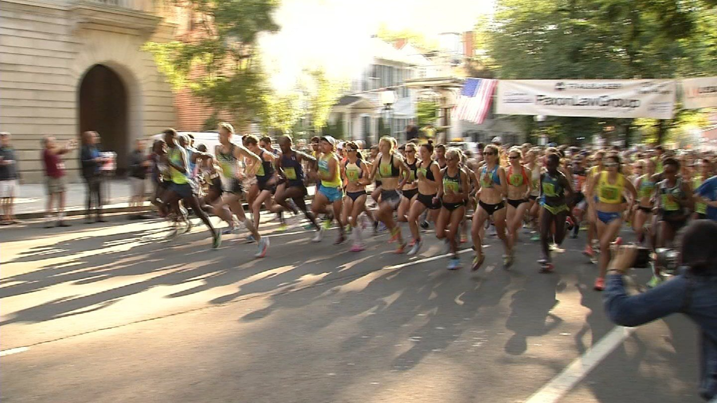 Thousands of runners ran in the 40th annual New Haven Road Race on Monday. (WFSB)