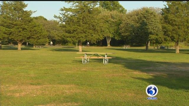 State campgrounds cleared out on Monday as the season came to an end (WFSB)
