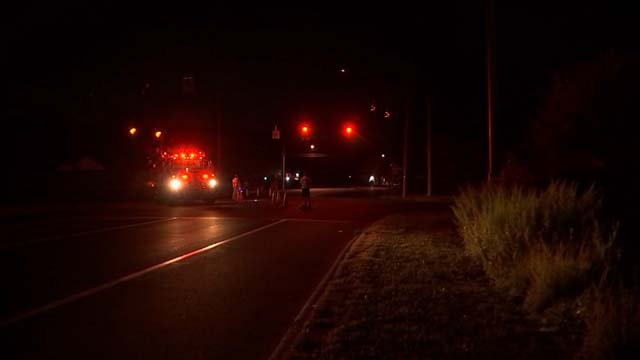 A serious crash closed part of Route 66 in Portland on Monday evening (WFSB)