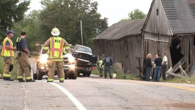 A head-on crash closed Rt. 32 in Mansfield on Tuesday. (WFSB)