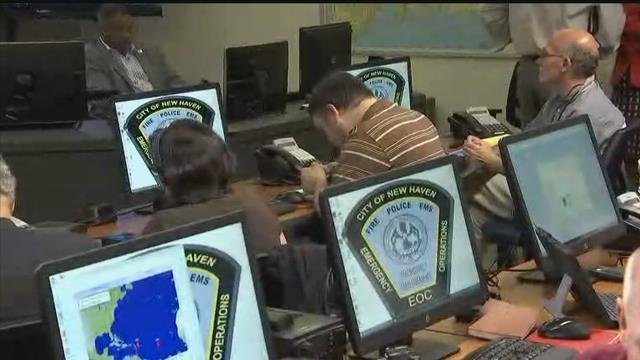 The New Haven Emergency Operations Center. (WFSB)